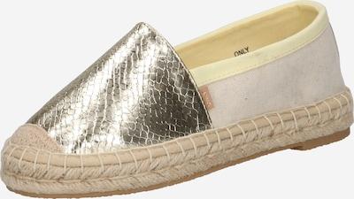 ONLY Espadrilles 'EVA' in gold / grau, Produktansicht