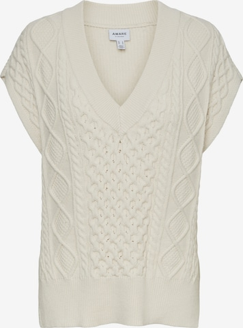 Vero Moda Aware Sweater 'Row' in Beige