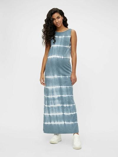 MAMALICIOUS Umstandskleid 'Malia' in pastellblau / weiß, Modelansicht