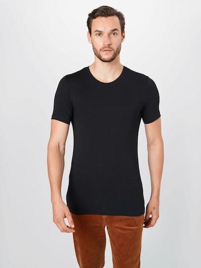OLYMP Shirt in schwarz: Frontalansicht