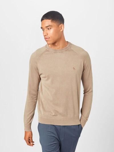 Calvin Klein Jeans Pullover in hellbraun: Frontalansicht