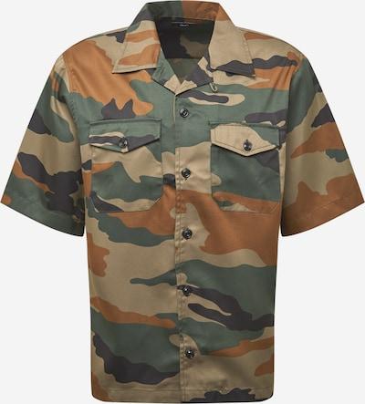 DIESEL Hemd 'WOLF' in braun / grün / khaki / schwarz, Produktansicht