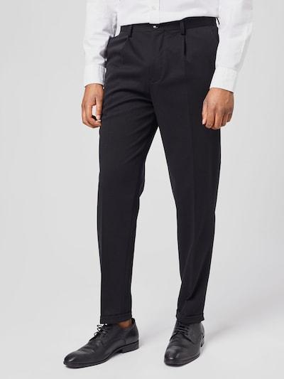 SELECTED HOMME Voltidega püksid must, Modellivaade