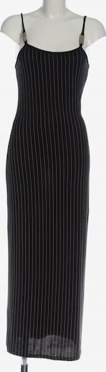 UNBEKANNT Maxikleid in S in schwarz / wollweiß, Produktansicht