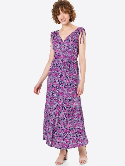 GAP Košilové šaty - fialová / tmavě fialová / bílá, Model/ka