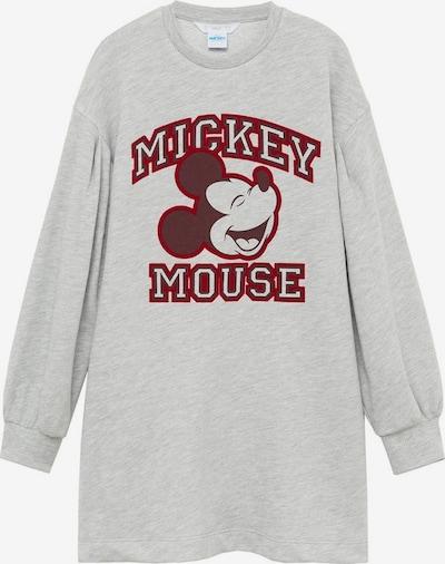 MANGO KIDS Kleid 'mouse' in hellgrau / rot, Produktansicht