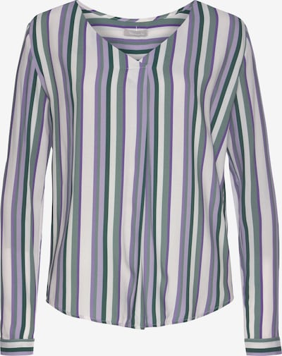 TAMARIS Blouse in Dark green / Purple / Lilac / White, Item view