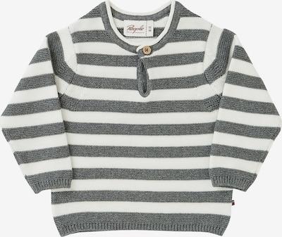 People Wear Organic Pullover in grau / weiß, Produktansicht