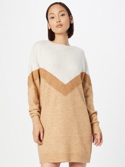 VERO MODA Gebreide jurk 'Gingo' in de kleur Beige / Bruin / Wit, Modelweergave
