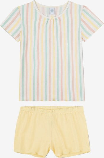 SANETTA Schlafanzug in gelb / hellrot / weiß, Produktansicht