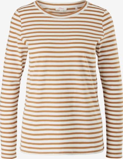 s.Oliver Shirt in karamell / weiß, Produktansicht
