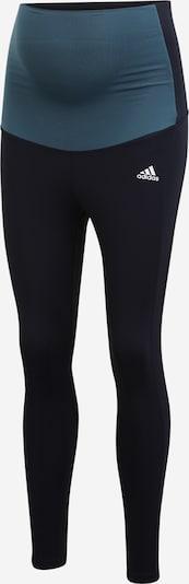 ADIDAS PERFORMANCE Pantalon de sport en bleu pastel / noir, Vue avec produit