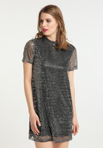 faina Kleid in silbergrau / schwarz, Modelansicht