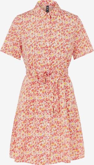 PIECES Košulja haljina 'Rosia' u žuta / rosé / crvena / lubenica roza / bijela, Pregled proizvoda