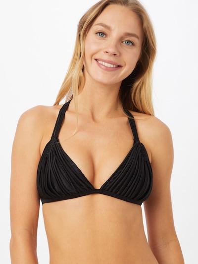 Hunkemöller Hauts de bikini 'Macrame' en noir, Vue avec modèle