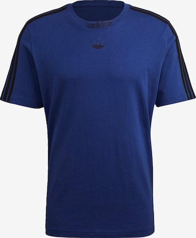 ADIDAS ORIGINALS T-Shirt in kobaltblau / schwarz, Produktansicht