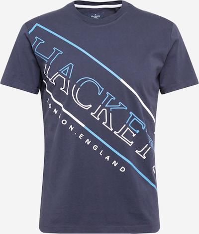 Hackett London T-Shirt 'HACKETT' en bleu marine / bleu clair / blanc, Vue avec produit
