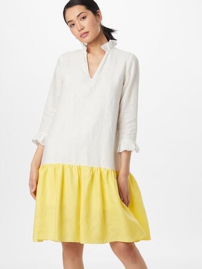 KAN Košulja haljina 'FRANGIPANI' u žuta / bijela, Prikaz modela