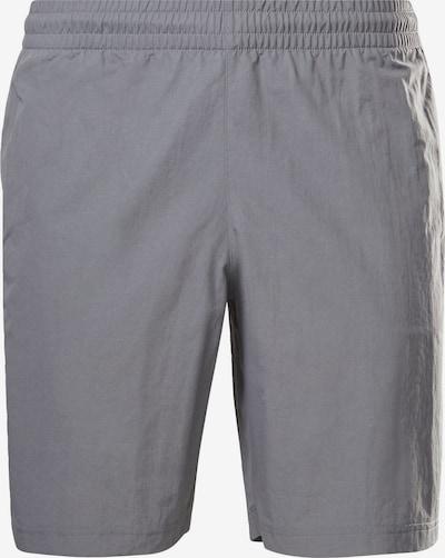 REEBOK Sportbroek in de kleur Grijs / Wit, Productweergave