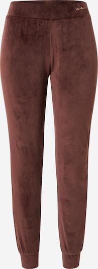 Emporio Armani Pantalon de pyjama en marron châtaigne, Vue avec produit