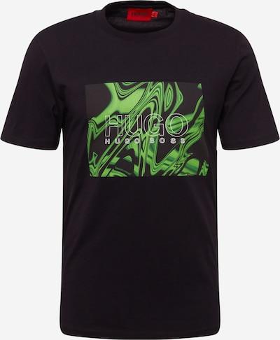 HUGO Shirt 'Dolive' in grün / schwarz / weiß, Produktansicht