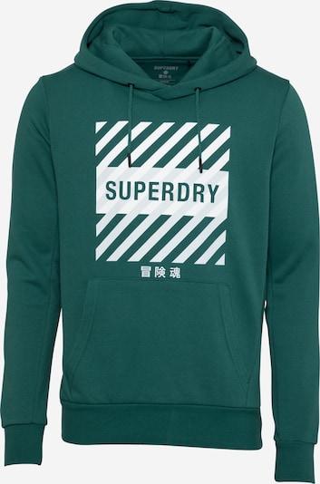 Superdry Sportsweatshirt in de kleur Smaragd / Wit, Productweergave