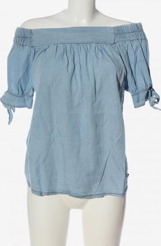 AUST Kurzarm-Bluse in L in Blau