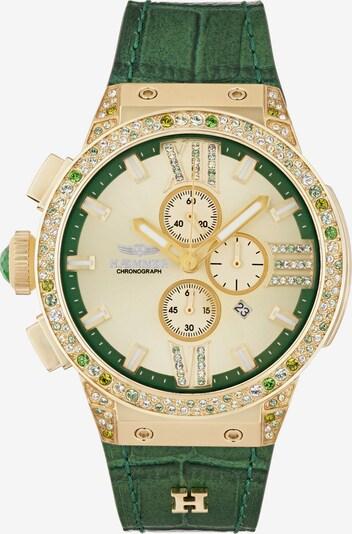 HAEMMER Uhr in gold / schwarz / silber / weiß, Produktansicht