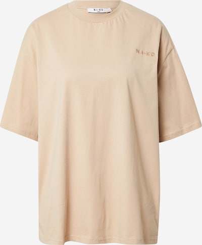 NA-KD T-Shirt in cappuccino, Produktansicht
