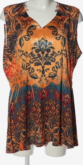 Via Appia Due ärmellose Bluse in XXXL in braun / hellorange / schwarz, Produktansicht
