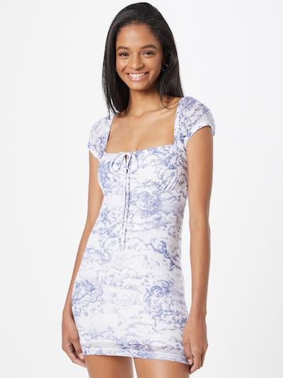 Motel Kleid 'Gaina' in dunkellila / weiß, Modelansicht