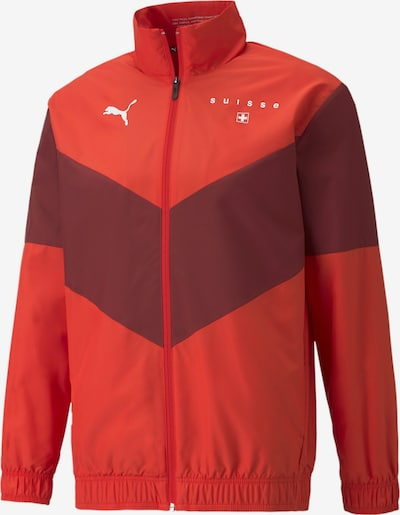 PUMA Veste de sport en rouge sang, Vue avec produit