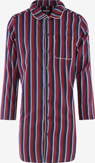 SEIDENSTICKER Longsleeve Schlafshirt ' Block Stripes ' in weinrot, Produktansicht
