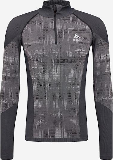 ODLO Sweat de sport en gris clair / gris foncé / noir, Vue avec produit