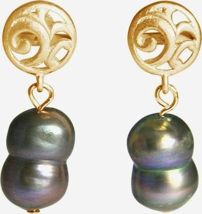 Gemshine Ohrringe in gold / grau, Produktansicht