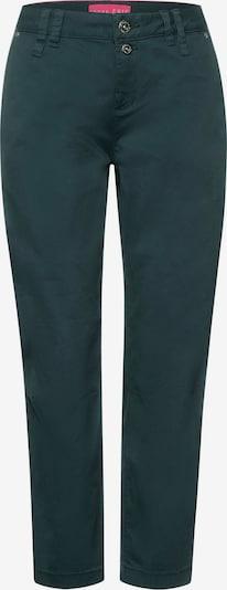 STREET ONE Pantalon chino en anthracite / vert foncé: Vue de face