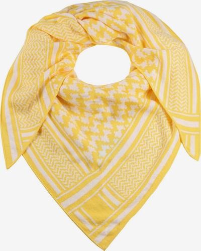 Zwillingsherz Masque en tissu 'Liv' en jaune / blanc, Vue avec produit
