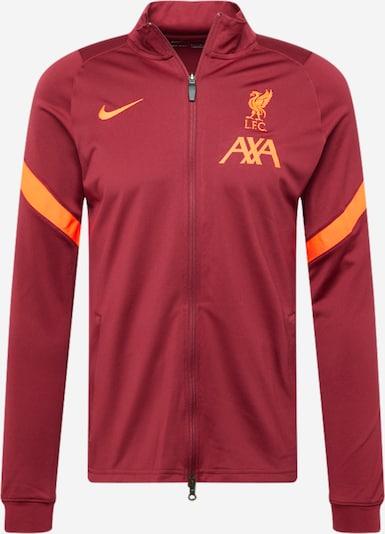 Bluză cu fermoar sport 'Liverpool FC Strike' NIKE pe portocaliu / roşu închis, Vizualizare produs