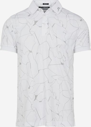 J.Lindeberg Functioneel shirt in de kleur Grijs / Wit, Productweergave