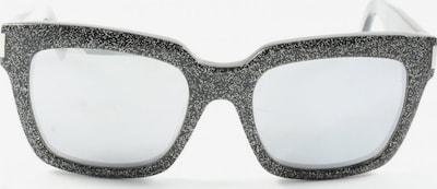 Saint Laurent ovale Sonnenbrille in One Size in schwarz / weiß, Produktansicht