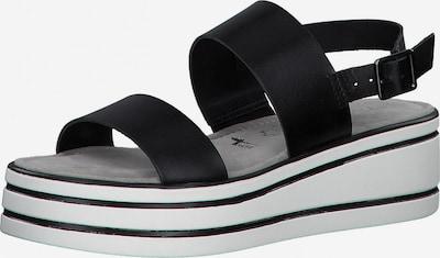TAMARIS Sandale in schwarz / weiß, Produktansicht