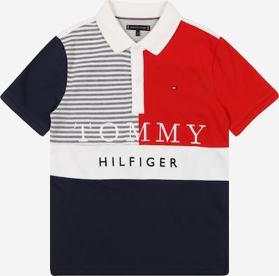 TOMMY HILFIGER Majica | mornarska / siva / rdeča / bela barva: Frontalni pogled