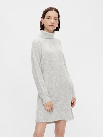 PIECES Gebreide jurk 'Ellen' in Grijs