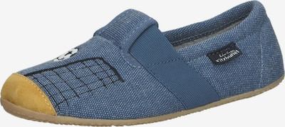 Living Kitzbühel Huisschoenen in de kleur Duifblauw / Zwart / Wit, Productweergave