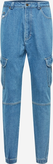 Pantaloni eleganți Karl Kani pe albastru denim, Vizualizare produs