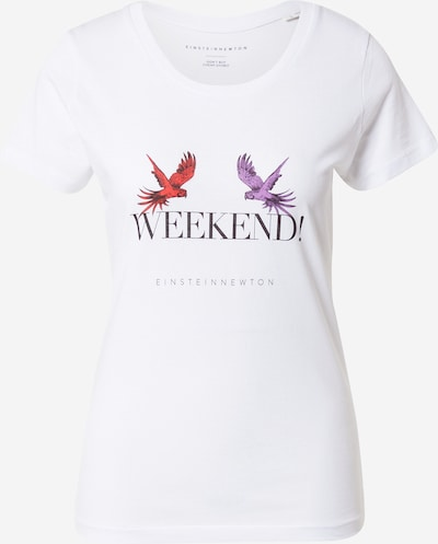 EINSTEIN & NEWTON T-Krekls 'Weekend', krāsa - lillā / sarkans / melns / balts, Preces skats