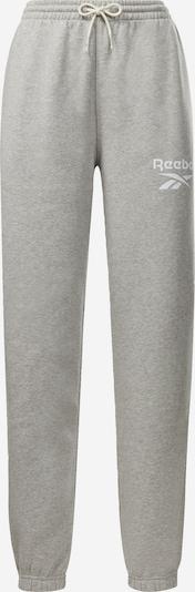 REEBOK Pantalón deportivo en gris moteado / blanco, Vista del producto