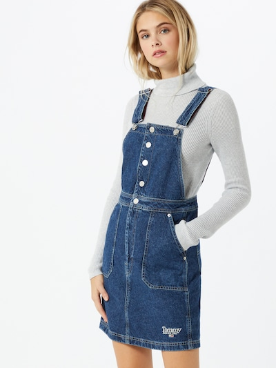 Tommy Jeans Kleid in blue denim, Modelansicht