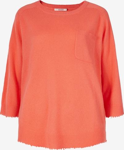 BLOOM Kaschmirpullover mit Brusttasche in orange / apricot / lachs / pink, Produktansicht