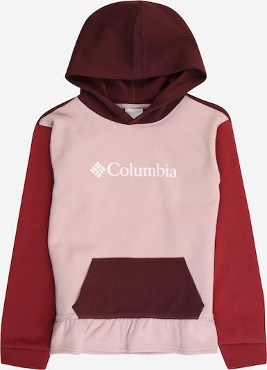 COLUMBIA Sportsweatshirt in pastellpink / rot / blutrot, Produktansicht